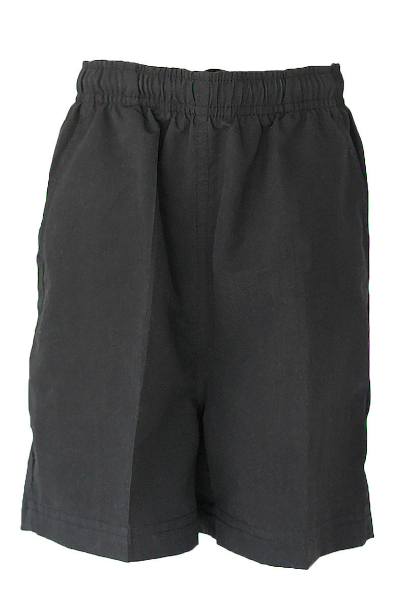 Black Microfibre Shorts