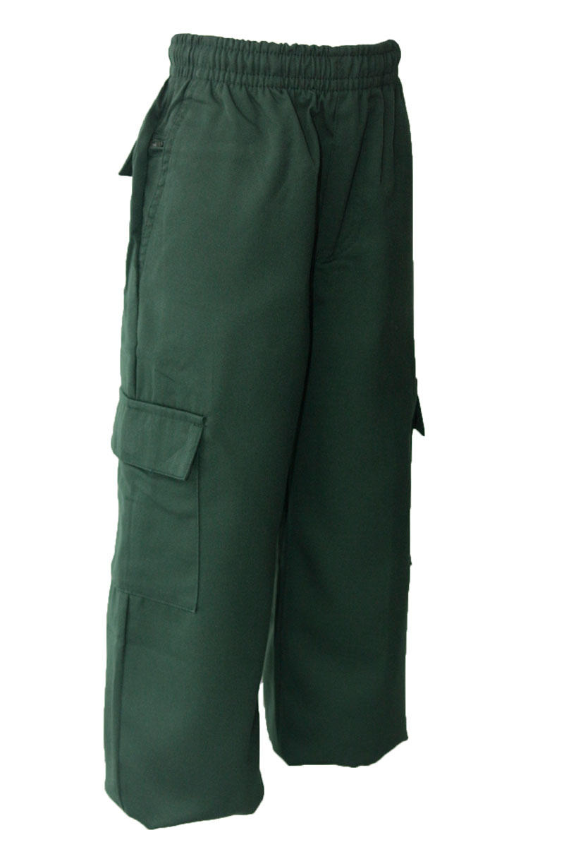 Bottle Gaberdine Cargo Long Pants