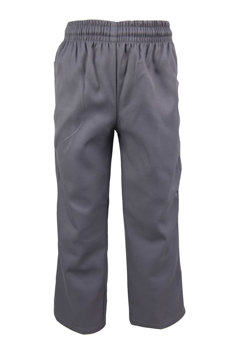 Boys Grey Gaberdine Pants