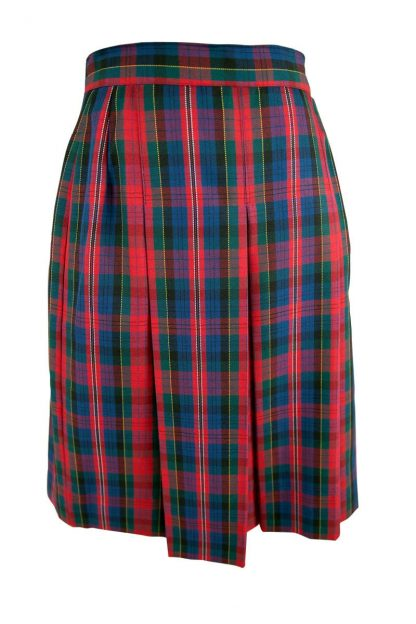 Carroll College Junior Girls Pleated Check Winter Skirt