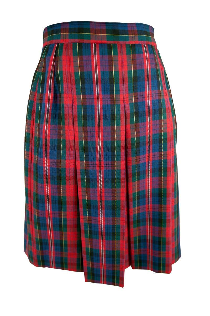Carroll College Junior Girls Pleated Check Winter Skirt