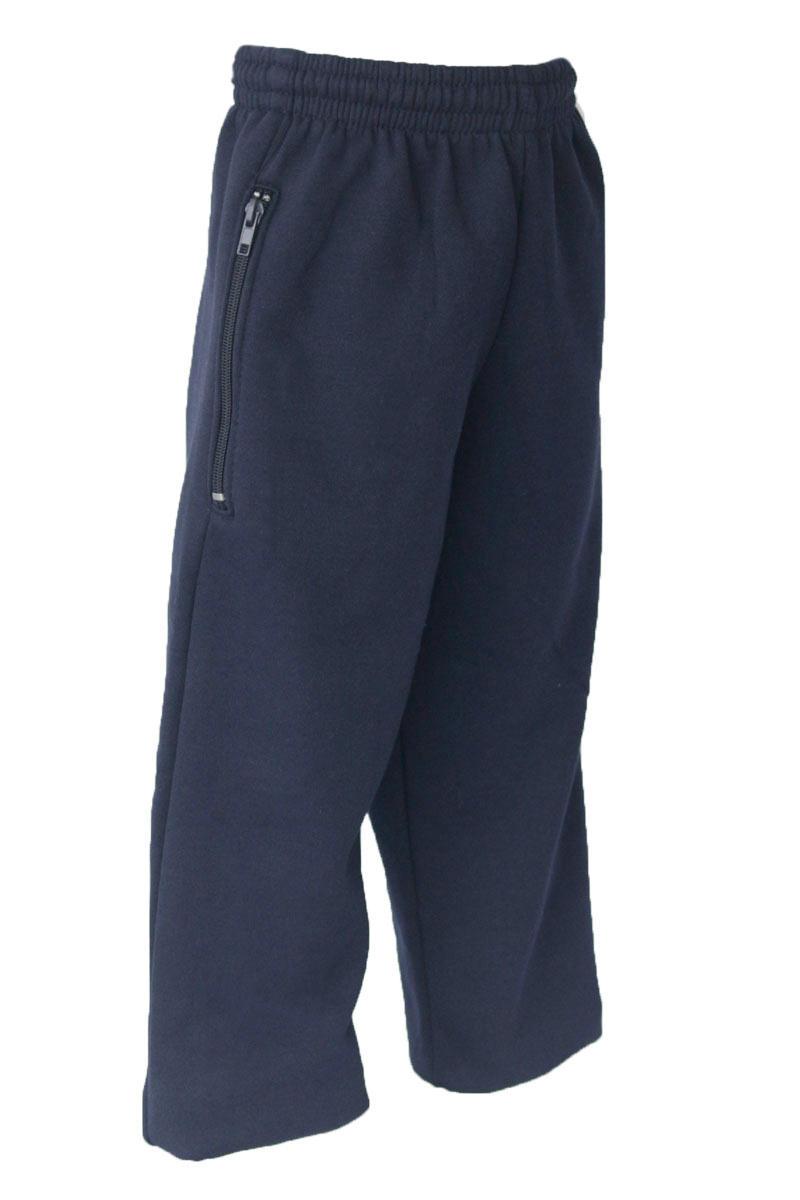 Childrens Navy Straight Leg Trackpants