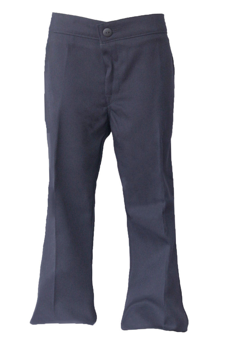 Girls Half Elastic Navy Pants