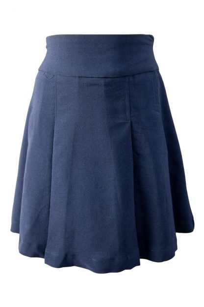 Girls Navy Pleated Skirt Option 2