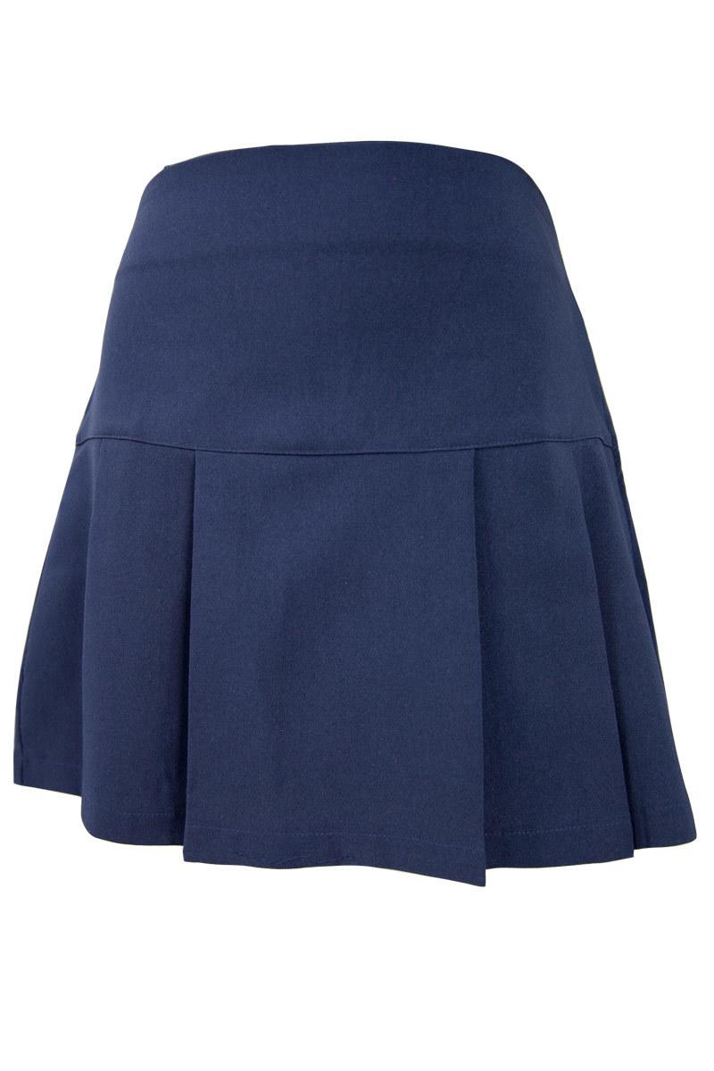 Girls Navy Pleated Skirt