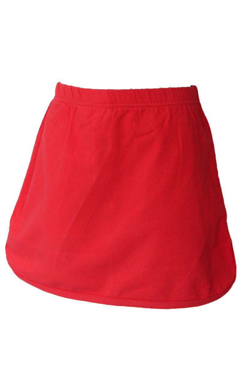 Girls Red Knit Skort