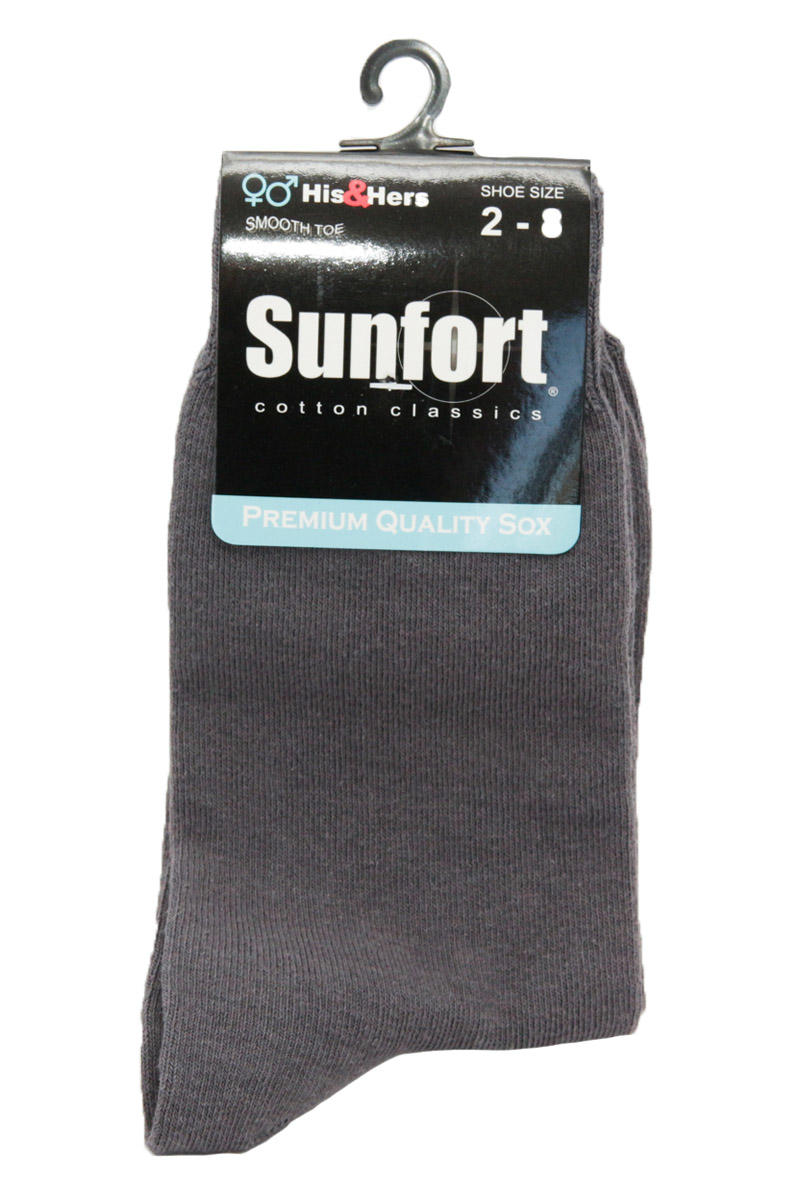 Grey Cotton Blend Socks