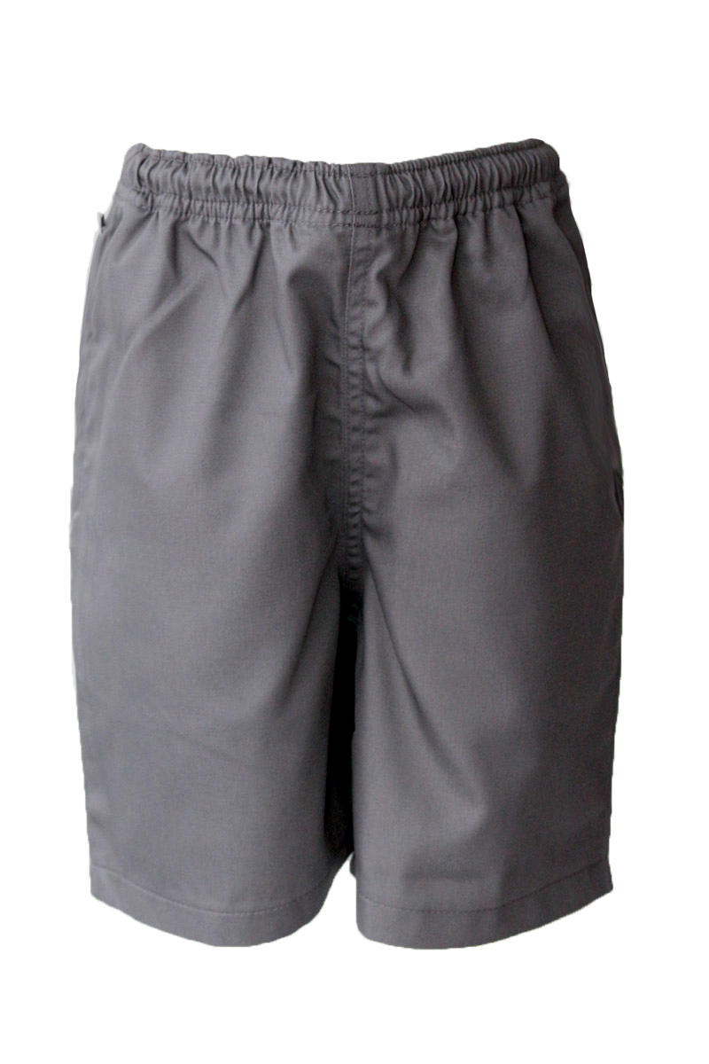 Grey Gaberdine Short