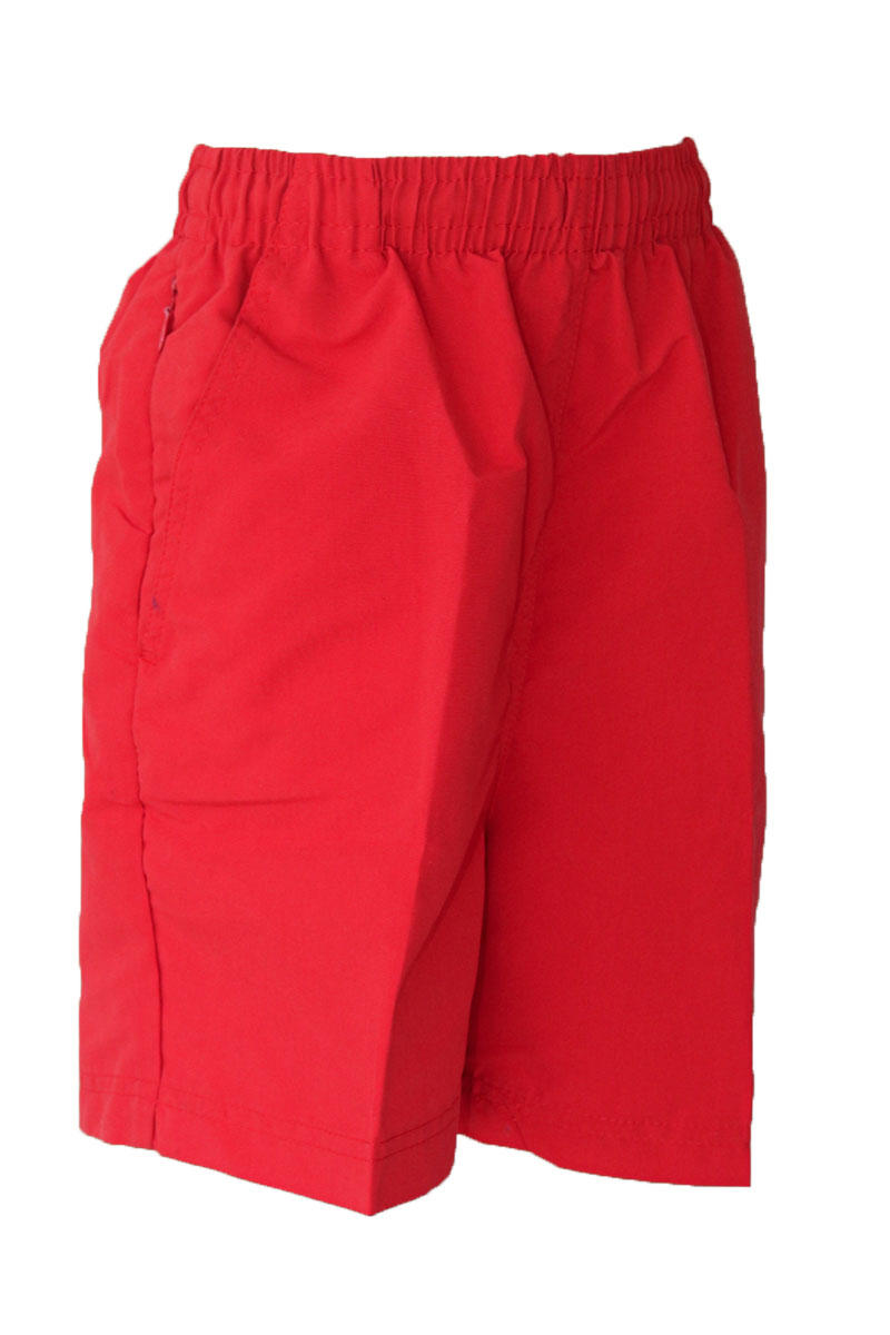 Microfibre Red Shorts