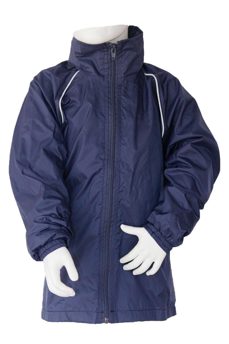 Navy Nylon Shell Jacket
