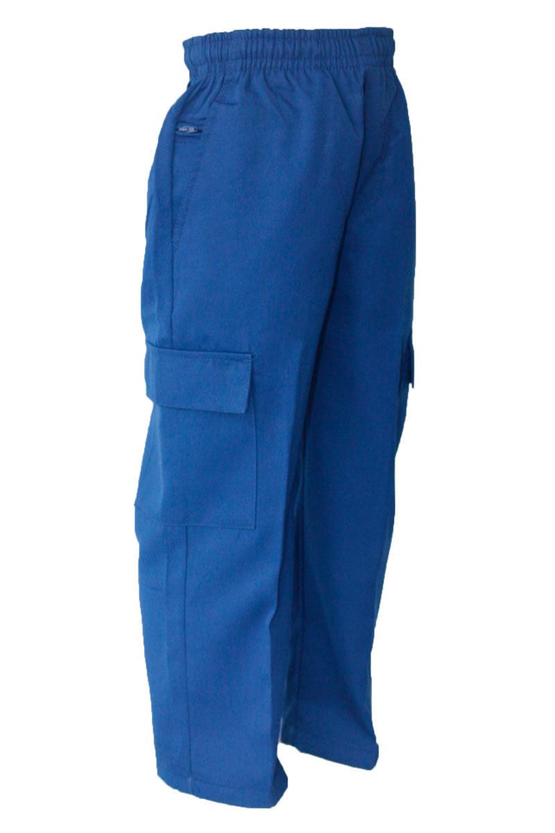 Royal Gaberdine Cargo Blue Pant