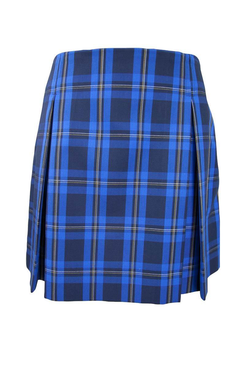 Senior Girls Check Pleated Skirt