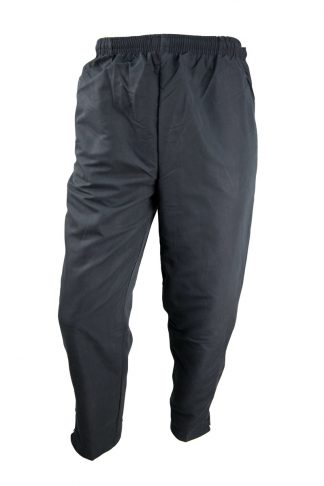 Unisex Black Microfibre Trackpants