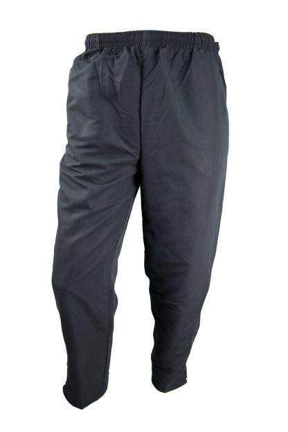 Unisex Microfibre Black Trackpants