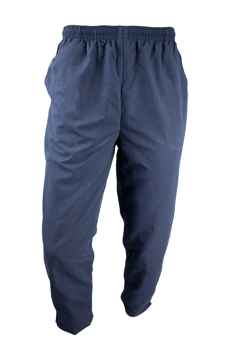 Unisex Navy Microfibre Trackpants